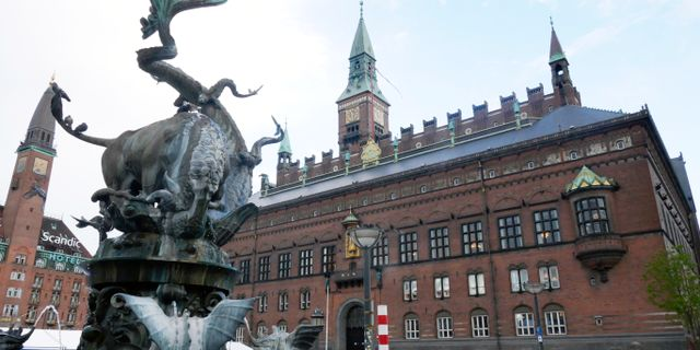 Rådhusplatsen i Köpenhamn Johansen, Erik / TT NYHETSBYRÅN