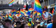 Pridetåget i Stockholm 2019.  Stina Stjernkvist/TT / TT NYHETSBYRÅN