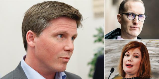 Erik Ullenhag till vänster. Jan Jönsson och Anna Starbrink är två av politikerna som vill att han efterträder Jan Björklund. TT