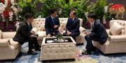 Det var ett informellt samtal ianslutnig till det pågående Asean-toppmöte. STRINGER / TT NYHETSBYRÅN
