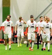 Bild tagen före matchen.  JÖRGEN JARNBERGER / BILDBYRÅN