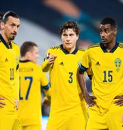 Zlatan Ibrahimovic, Victor Nilsson Lindelöf och Alexander Isak  LUDVIG THUNMAN / BILDBYRÅN