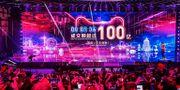 """Arkivbild: I måndags hölls det årliga e-handelsjippot """"Single's Day"""", med sedvanlig stor baluns i Hangzhou. - / AFP"""