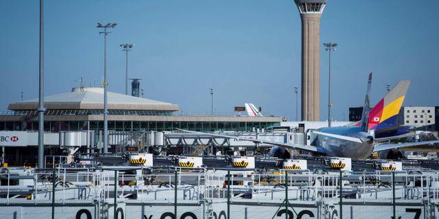 Flygplatsen Charles de Gaulle norr om Paris.  JOEL SAGET / AFP