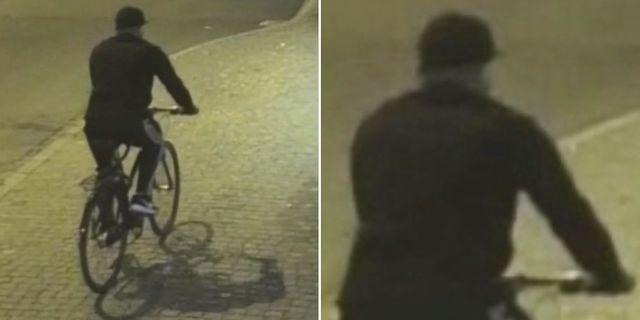 Polisens bilder på den misstänkte gärningsmannen.  Polisen