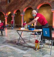 Arkivbild: Vaccinering inne i Blå hallen i Stadshuset i Stockholm.  Gustaf Månsson/SvD/TT / TT NYHETSBYRÅN