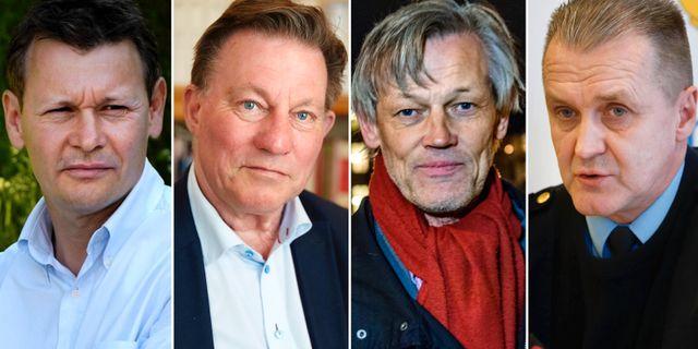 Sven Å Christianson/Claes Borgström/Göran Lambertz/Rolf Sandberg. Arkivbilder. TT