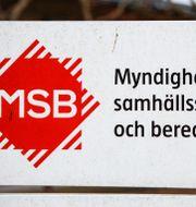 MSB:s logga. Drago Prvulovic/TT / TT NYHETSBYRÅN