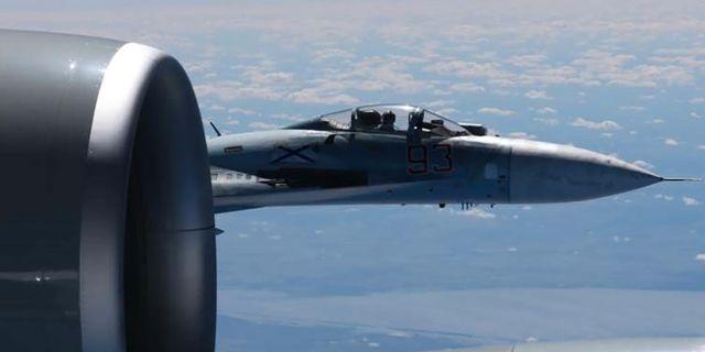 Ryskt stridsplan av modellen Su-27.  MASTER SGT. CHARLES LARKIN SR / US European Command