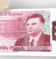 Den nya 50-pundssedeln med Alan Turing.  Pressbild: Bank of England