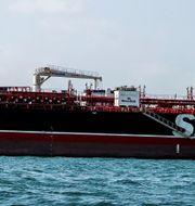 Stena Bulks fartyg Stena Impero vid Bandar Abbas.  Wana News Agency / TT NYHETSBYRÅN