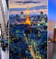 New York, Tokyo och Stockholm.
