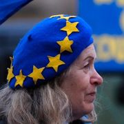 Demonstration för EU i Storbritannien.  TT