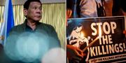 Filippinernas president Rodrigo Dutertes har fått mycket kritik för sitt krig mot knarket. TT