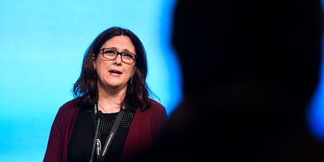 Arkivbild: EU:s handelskommissionär Cecilia Malmström.  Pontus Lundahl/TT / TT NYHETSBYRÅN