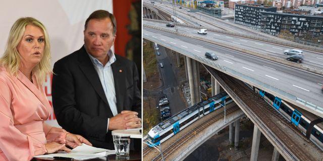 Socialminister Lena Hallengren och statsminister Stefan Löfven (S). Stockholm. Arkivbilder.  TT