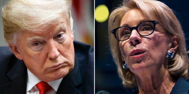 Donald Trump och Betsy DeVos.  TT