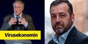 Nationalekonomen Assar Lindbeck (t.v) ledde Ekonomikommissionen för att lösa de strukturproblemen som fanns efter 90-talskrisen. Ekonomiprofessorn Johan Eklund (t.h) tycker att det behövs en ny Lindbeckskommission idag.  TT