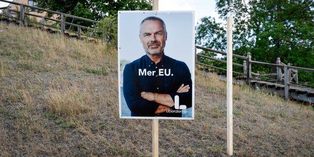 Liberalernas annonskampanj inför valet. Stina Stjernkvist/TT / TT NYHETSBYRÅN