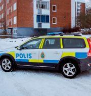 Polisens avspärrningar i Sundsvall, december 2019.  Mats Andersson/TT / TT NYHETSBYRÅN