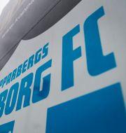 Göteborg FC:s klubbmärke MATHIAS BERGELD / BILDBYRÅN