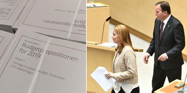 Arkivbilder: Regeringens ratade höstbudet, C-ledaren Annie Lööf och S-ledaren Stefan Löfven.