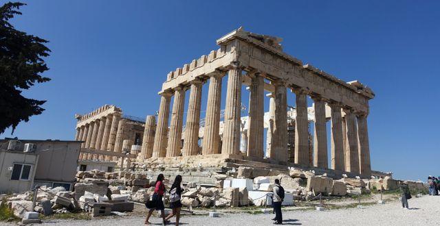 Parthenon på Akropolis.  Løvland, Marianne / TT NYHETSBYRÅN