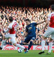 Arsenal och Manchester United kommer båda att tillhöra den nya ligan. EDDIE KEOGH / TT NYHETSBYRÅN