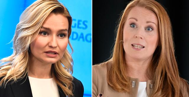 Ebba Busch och Annie Lööf.  TT.