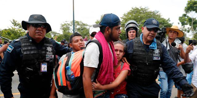 Mexiko har vidtagit allt starkare åtgärder mot migranter efter press från USA. Marco Ugarte / TT NYHETSBYRÅN