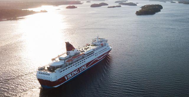 Passagerarfärjan M/S Amorella från Viking Line på sin rutt i Stockholms skärgård. Arkivbild.  Fredrik Sandberg/TT / TT NYHETSBYRÅN