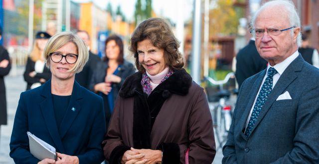 Drottning Silvia och kungen. Pär Bäckström/TT / TT NYHETSBYRÅN