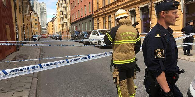 Stort polispadrag i centrala stockholm