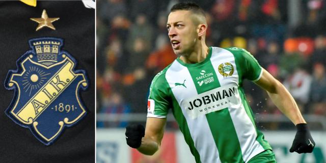 Nikola Djurdjic skickar en passning till AIK inför nästa säsong. TT