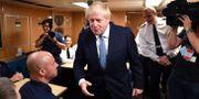 Boris Johnson under ett besök på den brittiska flottans bas i Faslane i Skottland.  Jeff J Mitchell / TT NYHETSBYRÅN/ NTB Scanpix
