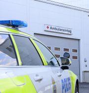 Höglandssjukhuset i Vetlanda där några av de skadade i onsdagens knivattack vårdas. MIKAEL FRITZON/TT / TT NYHETSBYRÅN