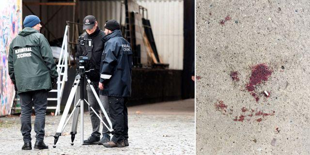 Bilder från brottsplatsen. TT