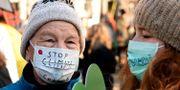 Demonstrationer utanför klimatmötet i Polen. Alik Keplicz / TT NYHETSBYRÅN/ NTB Scanpix