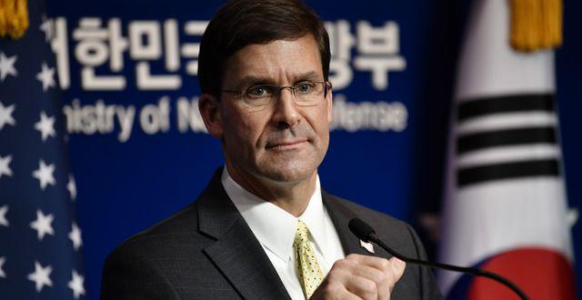 USA:s försvarsminister Mark Esper.  JUNG YEON-JE / pool