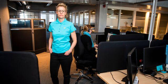 Sjuksköterskan Sofia Berggren. Simon Eliasson/TT / TT NYHETSBYRÅN