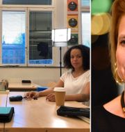Patrik Sjöberg och Elaine Eksvärd reagerade starkt på mötet med Åsa Regnér. Instagram/TT