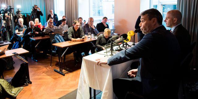 Daniel Kindberg på pressträffen efter att domen meddelats. JOHANNA LUNDBERG / BILDBYRÅN