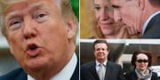 Donald Trump, Michael Flynn och Paul Manafort. TT
