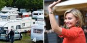 KD-ledaren Ebba Busch Thor är den partiledare som flest vill åka på campingsemester med TT