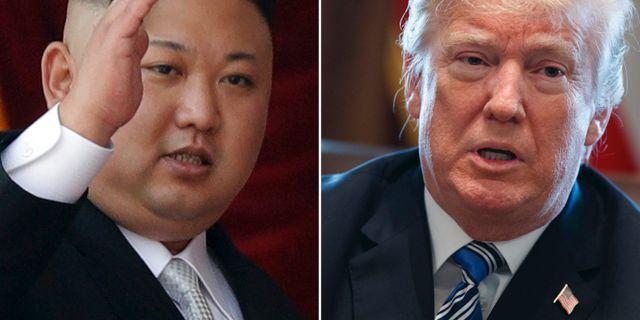 Kim Jong-Un och Donald Trump.  TT