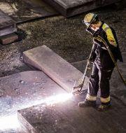 SSAB var en av dagens börsvinnare. Foto: Marcus Ericsson / TT