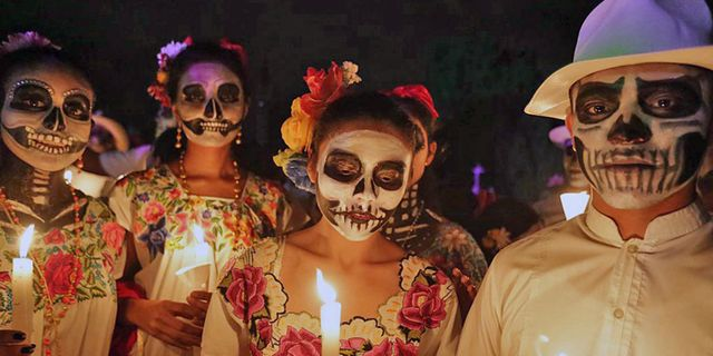 Dödens dag är Mexikos största högtid och firas denna vecka. Getty