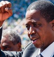 Arkivbild: Zambias president Edgar Lungu. JEKESAI NJIKIZANA / AFP