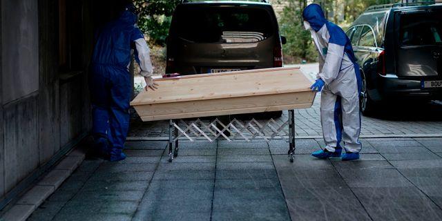 Belgien har haft över 2000 coronadödsfall. KENZO TRIBOUILLARD / TT NYHETSBYRÅN