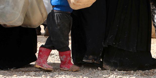Bild från lägret al-Hol i Syrien.  ALI HASHISHO / TT NYHETSBYRÅN